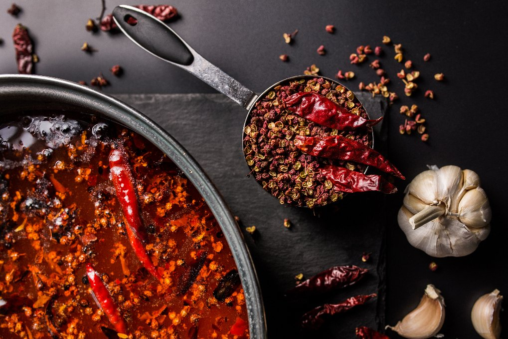 Mala spice in hotpot